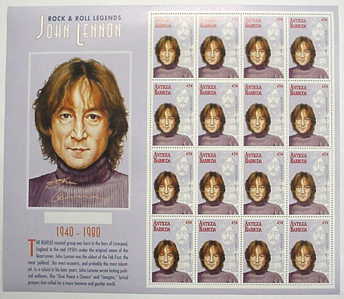 Antigua & Barbuda Lennon stamps