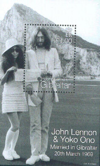 Lennon and Yoko Ono in gibraltar
