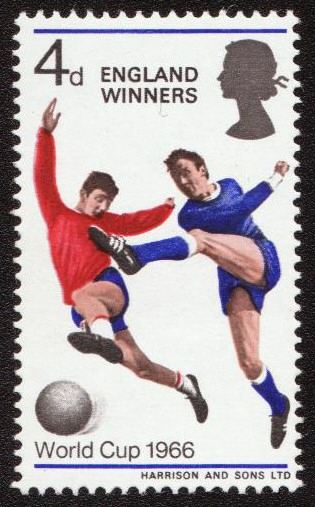 England Winners 4d stamp