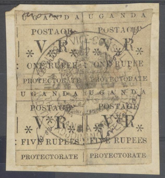 Ugandan consular manuscript overprints