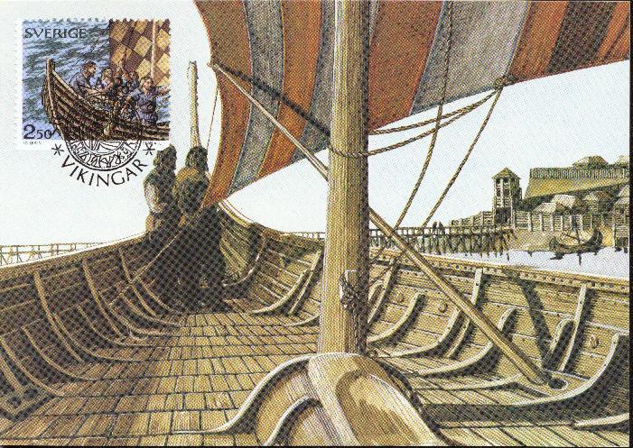 viking ship stamp