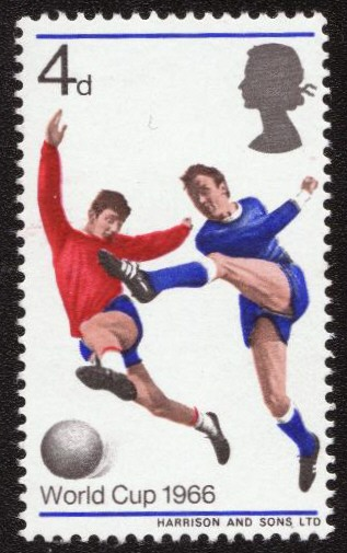 World Cup Fourpenny Stamp