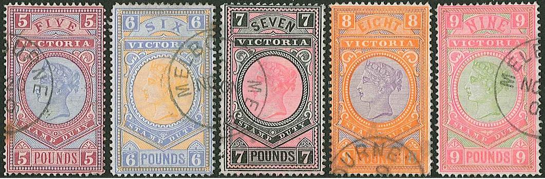 Victoria (Australia) high values set