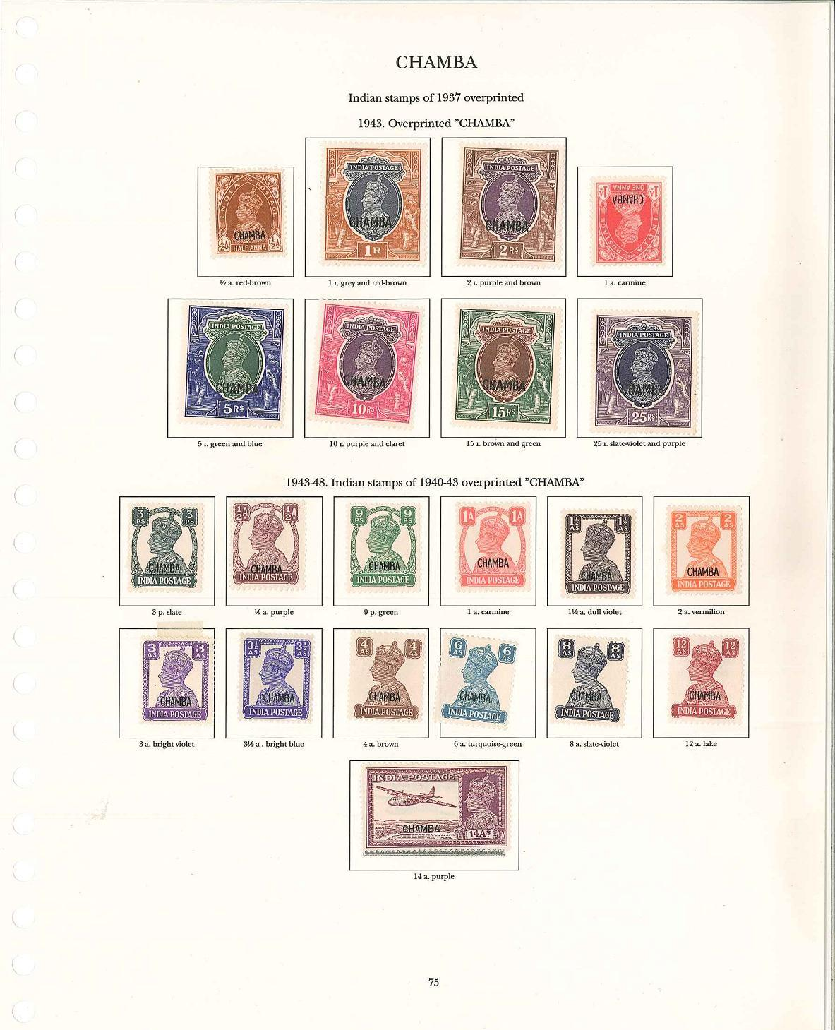 Lot 70 - page from Commonwealth collection