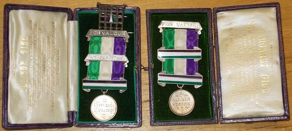 Gibb Sisters Suffragette Medals