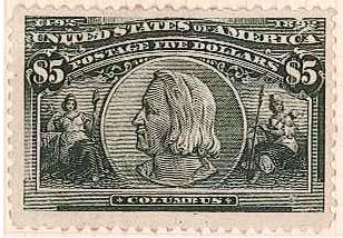 USA $5 from Columbian set
