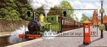 isle of man railway miniature                           sheet