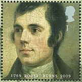 Robert Burns first class stamp