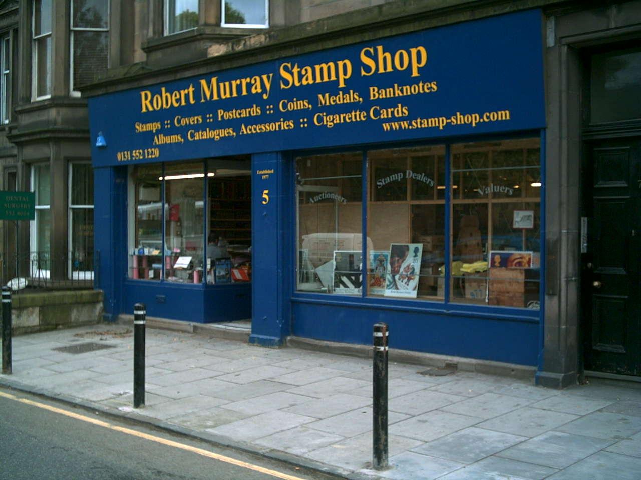 Robert Murray's StampShop in                 Edinburgh